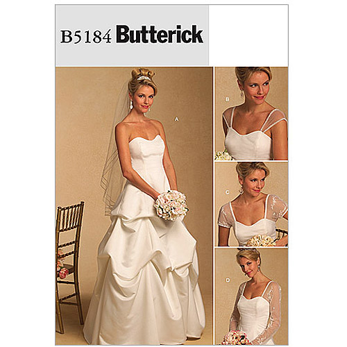 Butterick Pattern Misses' and Misses' Petite Dress and Detachable Sleeves, BB (8, 10, 12, 14)