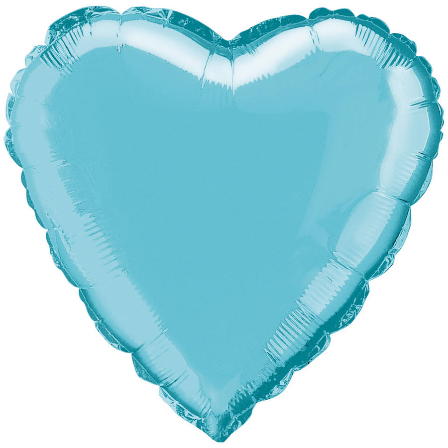 Foil Balloon, Heart, 18 in, Baby Blue, 1ct