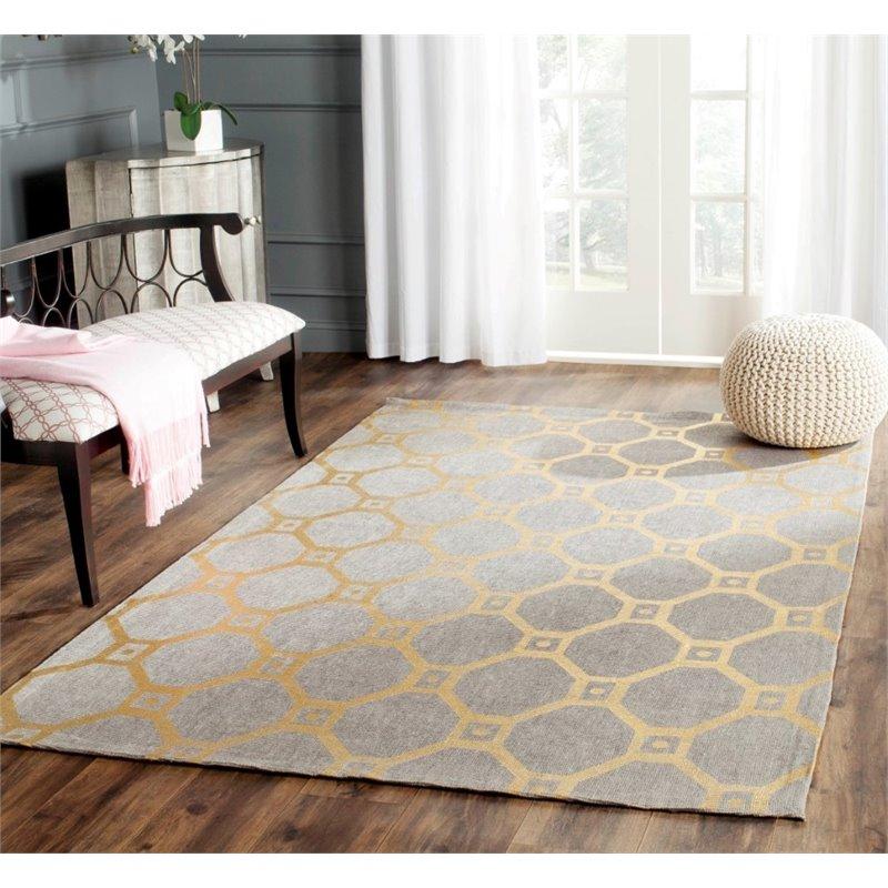 "Safavieh Cedar Brook 7'3"" X 9'3"" Handmade Jute Rug in Gray and Gold - image 4 of 8"