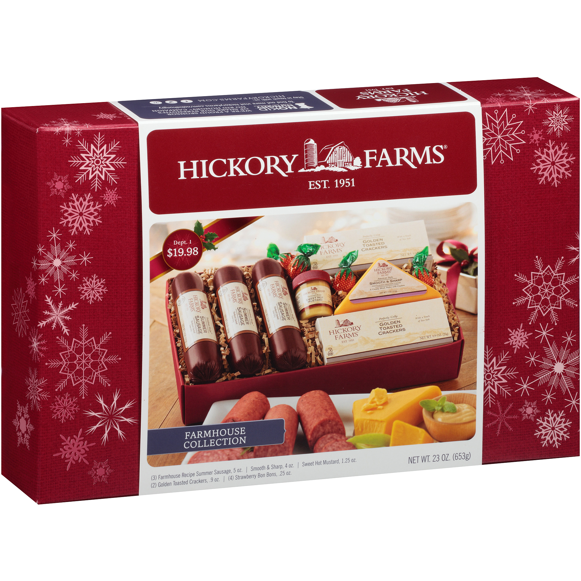 Hickory Farms Holiday Sausage & Cheese Assortment Gift, 11 pc