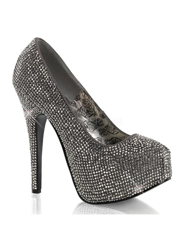 Bordello Gray Shoes Teeze Gray Bordello Satin-Pewter RS Size: 6 09bb8e