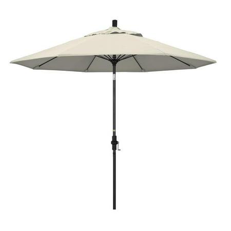 California Umbrella Sun Master Series Patio Market Umbrella in Olefin with Aluminum Pole Fiberglass Ribs Collar Tilt Crank Lift ()