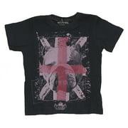 Religion Toddler Boy's Printed Short Sleeve Shirt 4-5 Years Black/Pink