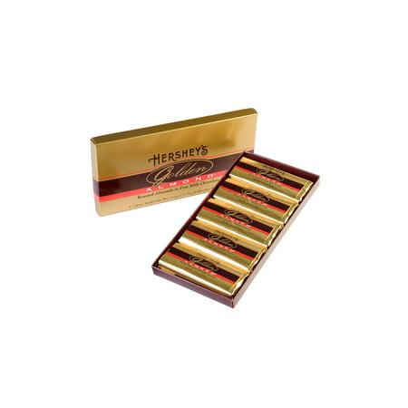HERSHEY'S GOLDEN ALMOND Chocolate Bar Gift Box, 5 Count, 2.8 oz