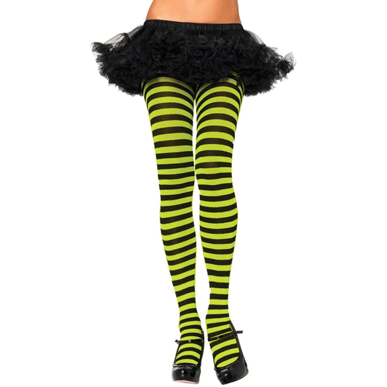 3aeb835dbcc Leg Avenue Women s Plus-Size Nylon Striped Tights