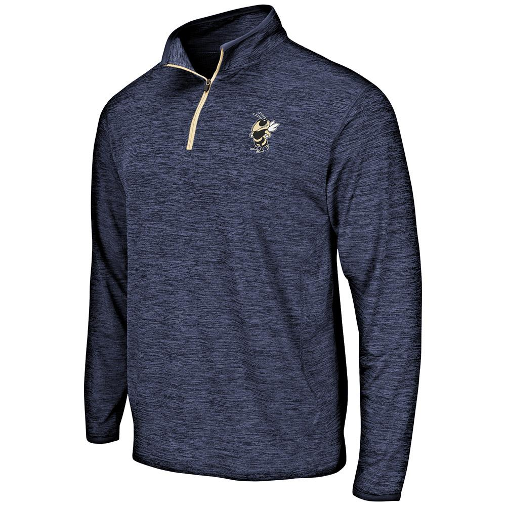 Mens Georgia Tech Yellow Jackets Quarter Zip Windbreaker Shirt S by Colosseum