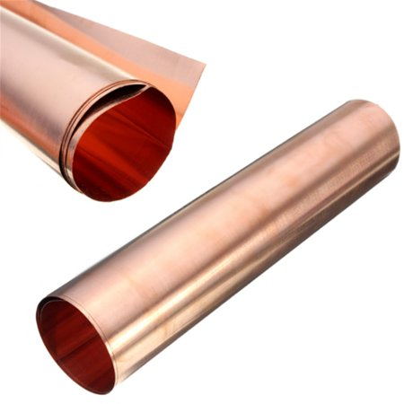 99.9% Pure Copper Cu Metal Sheet Foil 0.1x200x500MM Double-sided Conductive For Handicraft Aerospace