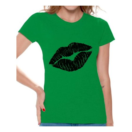 Awkward Styles Black Lips Shirt Retro 80s Lips T Shirt 80s Shirt 80s T Shirt Retro Vintage 80s Costume 80s Clothes for Women 80s Outfit 80s Party Girl Shirt 80s Accessories (80s Clothes Girls)
