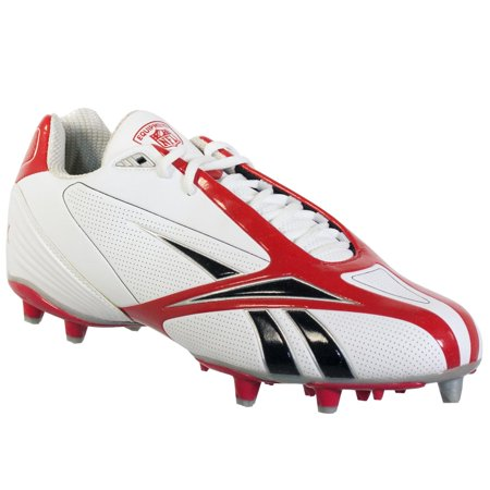 REEBOK NFL BURNER SPD III LOW M3 MENS FOOTBALL CLEATS WHITE RED