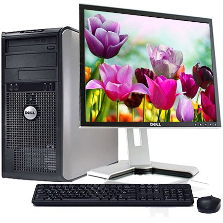 "Dell Optiplex Desktop Computer Bundle PC Windows 10 Intel Processor 4GB RAM 160GB Hard Drive DVD Wifi with a 17"" LCD Keyboard and Mouse-Refurbished Computer"