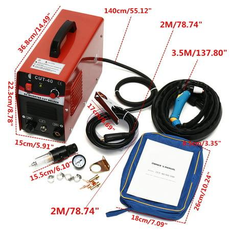 15'' CUT 40 Plasma Cutter 220V 50 AMP 1/2'' Clean Cut Handle Style Torch Machine
