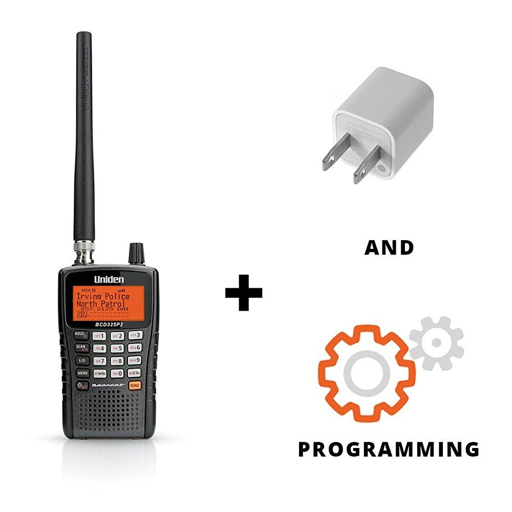 uniden bcd325p2 phase ii optimized digital handheld scanner bundle