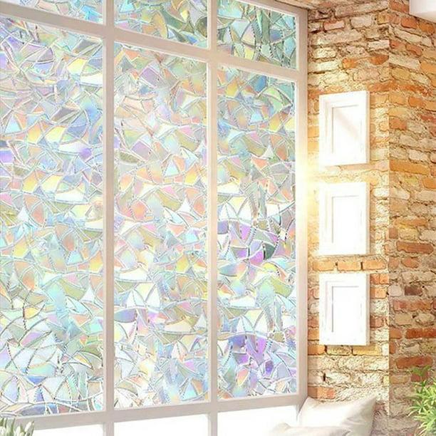 Rainbow Reflective 3D Window Film Decor Privacy Static Clings Glass Sticker BB