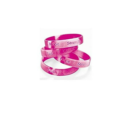 Pink Ribbon of Hope Breast Cancer Awareness Bracelets (Set of TWO)](Breast Cancer Awareness Bracelets)