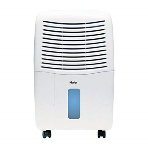 Haier 32-Pint Dehumidifier For Basements W/Drain, White