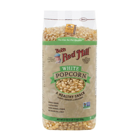 (3 Pack) Bobs Red Mill Corn Popcorn White, 27 - Halloween Popcorn Candy Corn Hands
