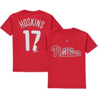 Rhys Hoskins Philadelphia Phillies Majestic Youth Player Name & Number T-Shirt - Red