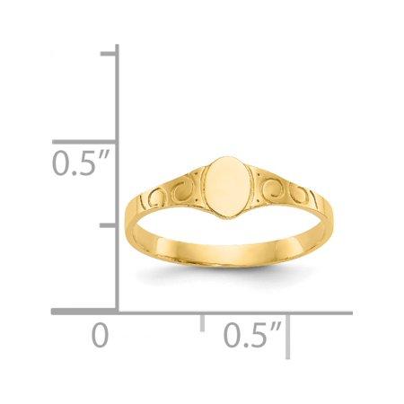 14k or jaune ovale b?b? Chevali?re - image 1 de 5