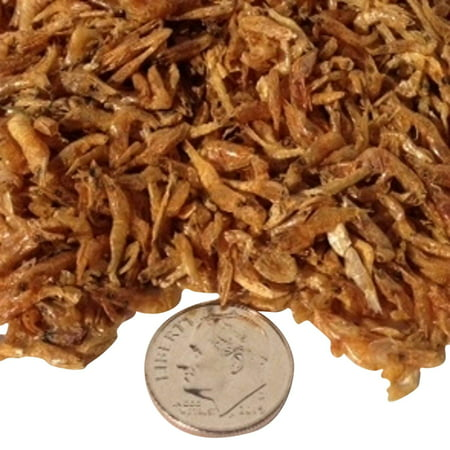 "Aquatic Foods Freeze Dried Red Shrimp 3/8"" to 1/2"" for AL Tropical Fish, Koi, Turtles - 1/8-lb"