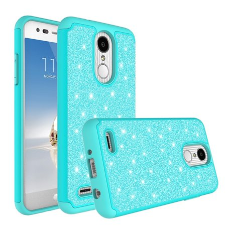new style 216f8 f3975 Glitter Shock Proof Phone Case LG Rebel 4 LTE/Rebel 3/Risio 3/Aristo 2  Plus/Aristo 2/Fortune 2 Case [HD Screen Protector] Hybrid Protective Cover  - ...