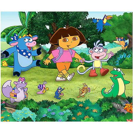 Nickelodeon dora the explorer yard wall mural for Dora wall mural