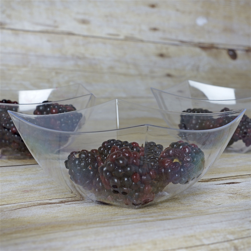 BalsaCircle 12 pcs 8 oz. Disposable Clear Plastic Bowls