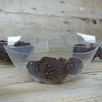 BalsaCircle 12 pcs 8 oz. Disposable Clear Plastic Bowls