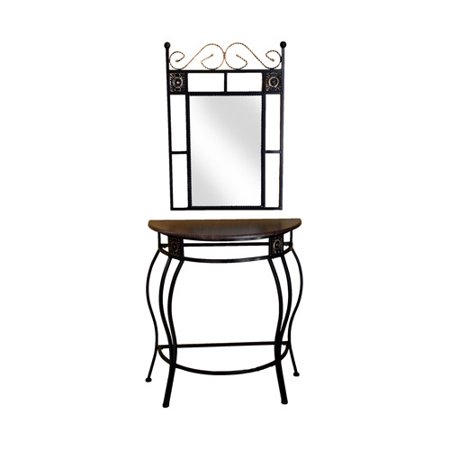 Hazelwood Home Console Table and Mirror Set. Hazelwood Home Console Table and Mirror Set   Walmart com