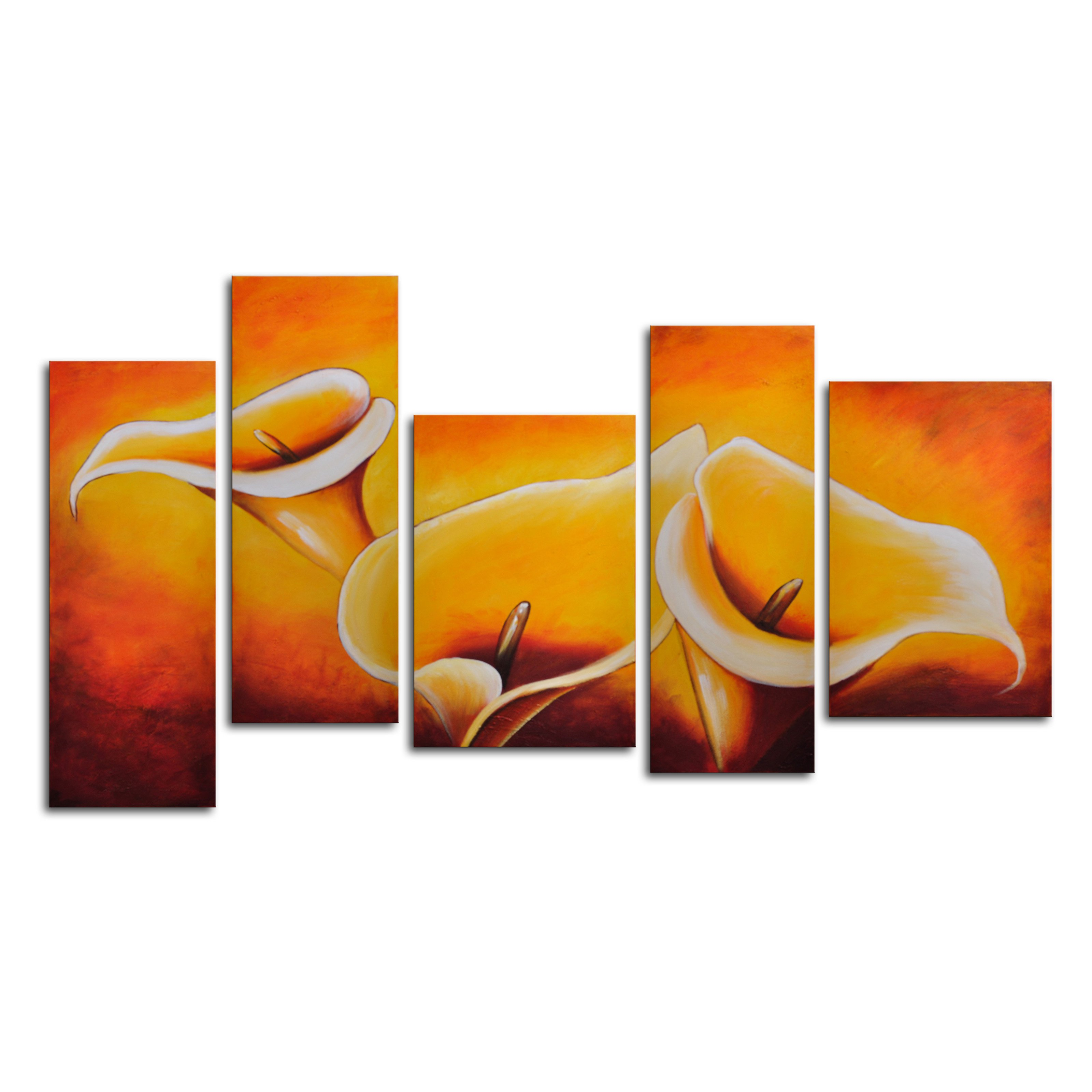 Cloaked in Light 5-Piece Canvas Wall Art - 68W x 32H in.