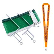Champion Sports Bundle: Table Tennis Net & Post Set Green with 1 Performall Lanyard PN104-1P