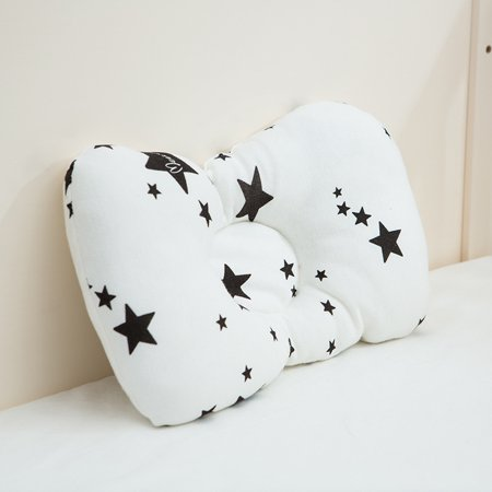 Baby Pillow Newborn Head Protection Pillow Toddler Sleep Positioner Prevent Flat Head and Plagiocephaly Infant Pillow for 0-6 Month - Star Pattern ()