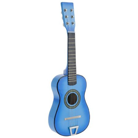 Light Blue Acoustic Classic Rock 'N' Roll 6 Stringed Guitar Toy Guitar Musical Instrument for Kids, Includes: Guitar Pick & Extra Guitar