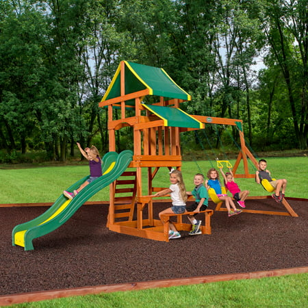 Backyard Discovery Tucson Cedar Wooden Swing Set ()