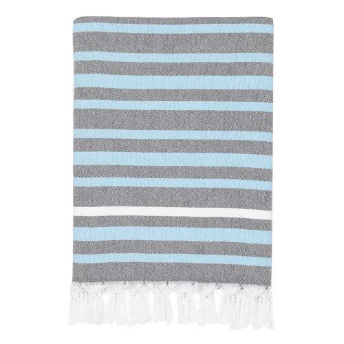 Highland Dunes Elegant Stripe Pestemal Turkish Cotton Beach Towel