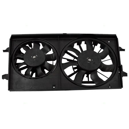 - BROCK Dual Cooling Fan Motor Assembly Replacement for Chevrolet Malibu & Maxx Pontiac G6 Saturn Aura 15788745