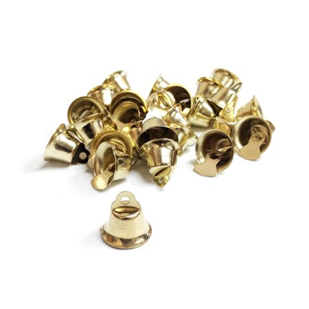 Mini Wedding Bridal Guest Favor Bells, Gold, 1/2-Inch, 36-Count