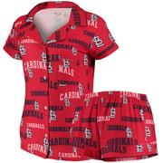 St. Louis Cardinals Concepts Sport Women's Fairway Shirt & Shorts Sleep Set - Red