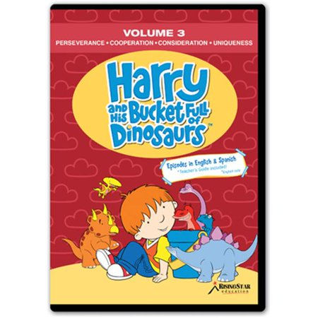 Rising Star Education HBD003 Harry & His Bucket Full of Dinosaurs- Vol. 3 - Perseverance- Cooperation- Consideration- Uniqueness-