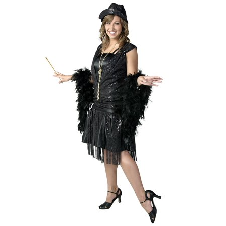 Plus Size Flapper Costume 3x (Plus Size Black Jazz Flapper)