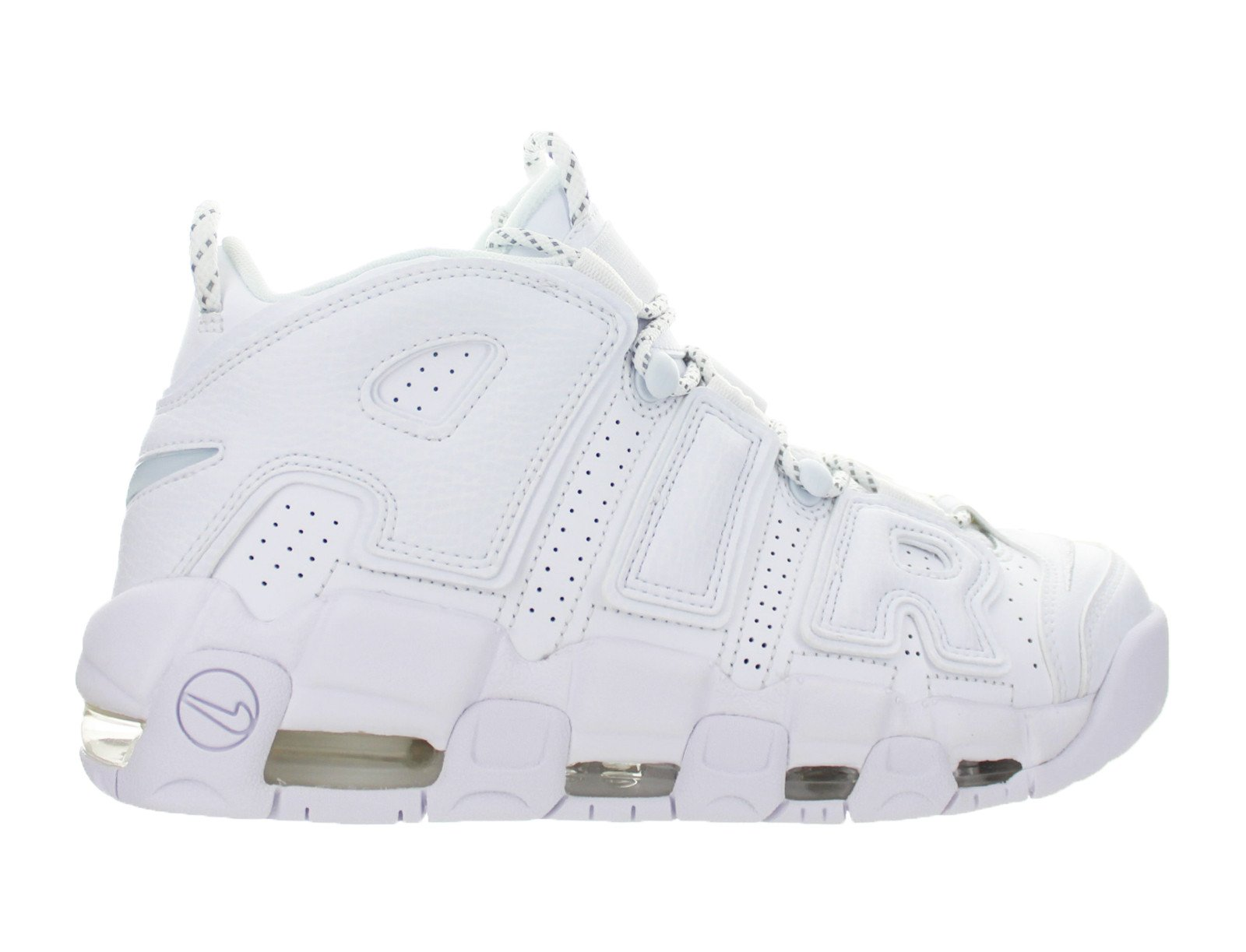 Mens Nike Air More Uptempo 96 Triple White Pippen 921948-100 by Nike