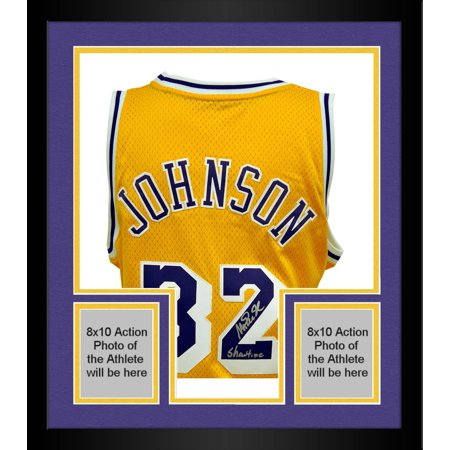 new arrivals 9df5a 85819 Framed adidas Magic Johnson Los Angeles Lakers Autographed ...