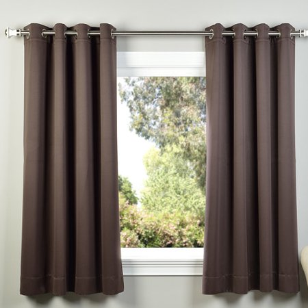 Half Price Drapes Plush Solid Blackout Thermal Grommet Curtain Panels (Set of 2)