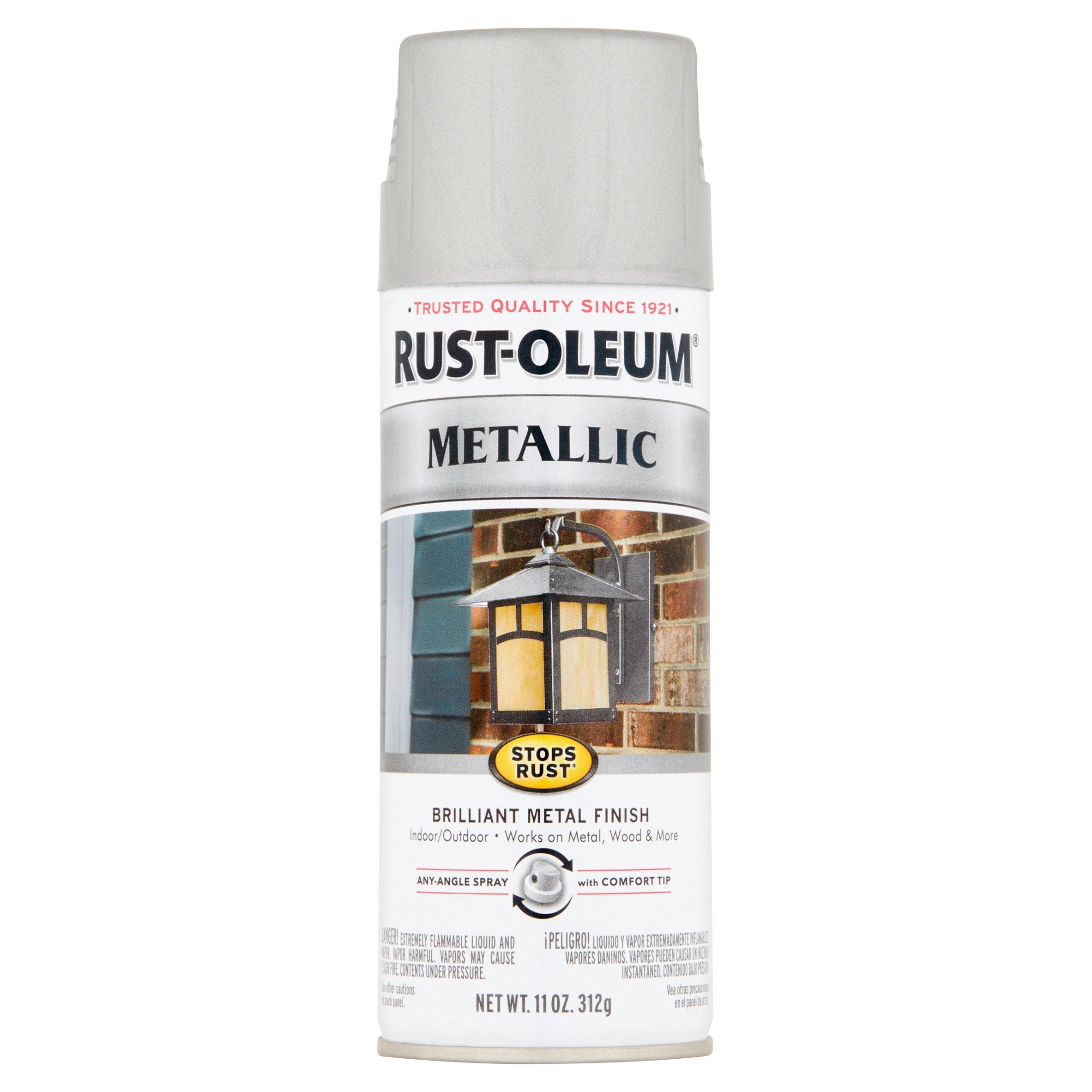 Rust-Oleum Stops Rust Silver Metallic Paint, 11 oz