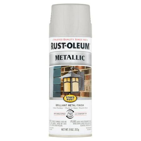 Rust-Oleum Stops Rust Silver Metallic Paint, 11 oz (Silver Mirror Spray Paint)