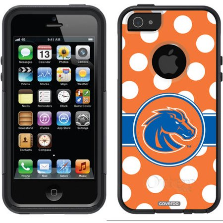 Boise State Cell Phone (Boise State Polka Dots Design on OtterBox Commuter Series Case for Apple iPhone 5/5s )