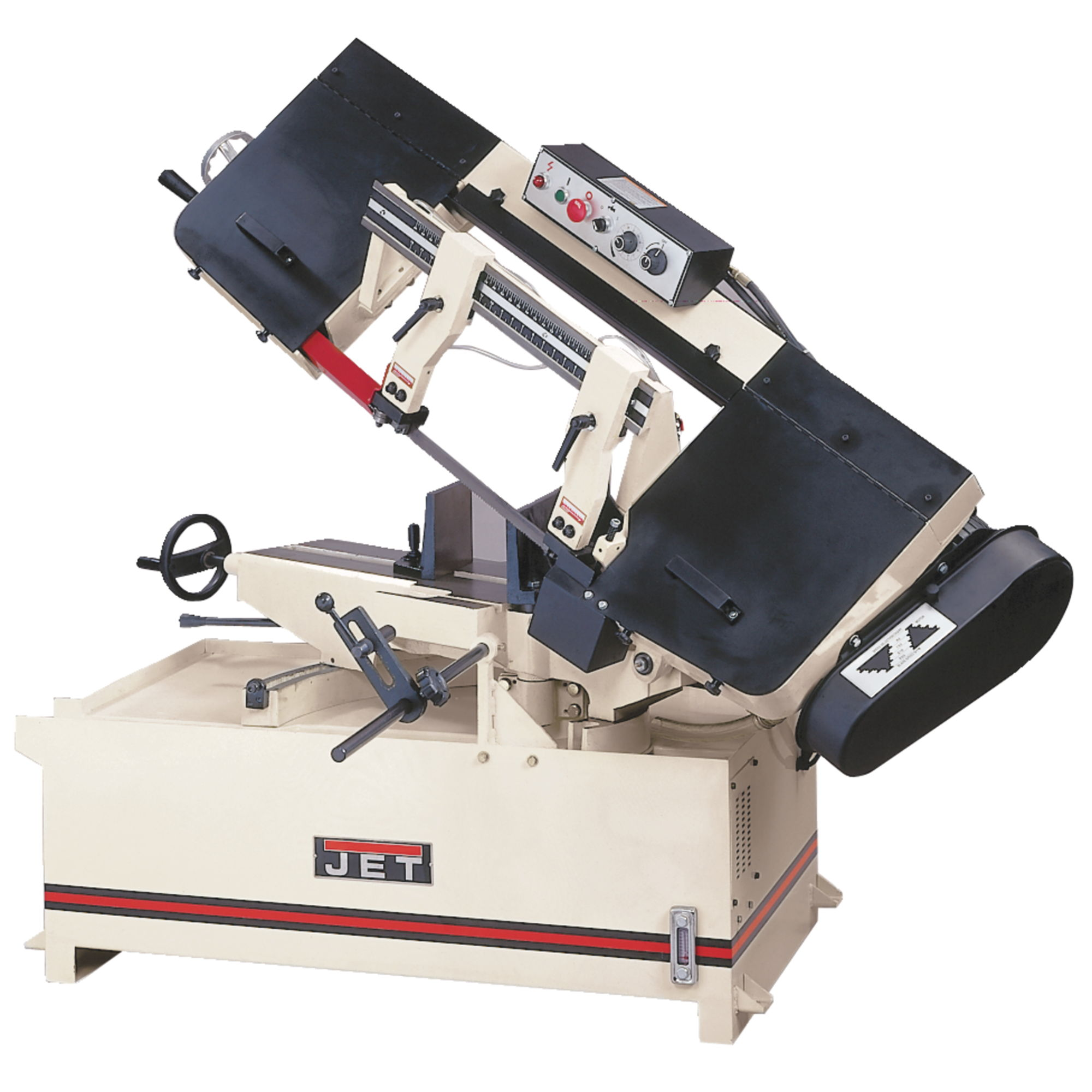 Jet 414477 MBS-1014W-3, 10 in. 3 HP 3-Phase Horizontal Mitering Band Saw