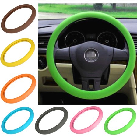 """14"""" -16"""" High Elastic Silicone Steering Wheel Cover Auto Anti-Slip Muti Color  Fit For 36-40cm Steering Wheel Car Truck"""