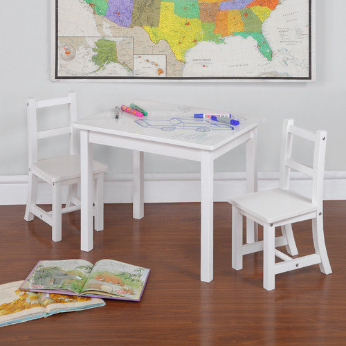 Dorel Living Kiddy 3 Piece Rectangle Table And Chair Set (Dry Erase Top)