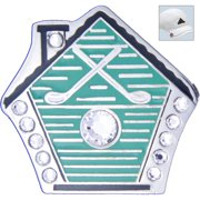 Bella Crystal Golf Ball Marker & Hat Clip - Bird House