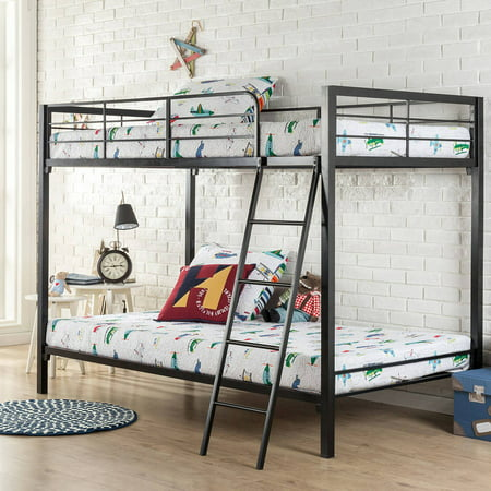 Zinus Quick Lock Twin Over Twin Metal Bunk Bed Assembly Under An Hour